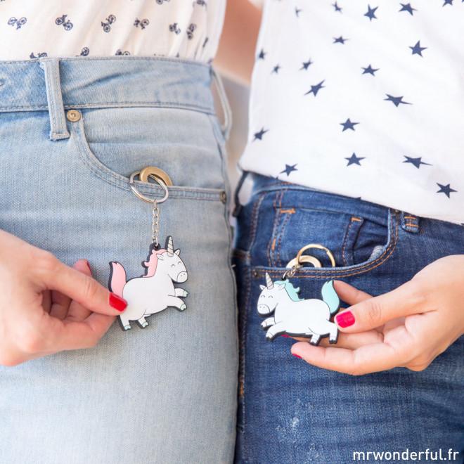 Jeu de 2 porte-clés - Notre amitié est magique (FR)