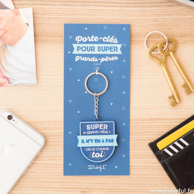 Porte clés - Super grand-père, il n'y en a pas deux comme toi (FR)