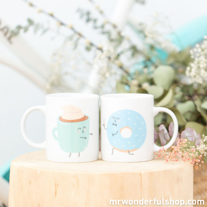 Lot de 2 mugs - And together they had breakfast happily ever after (ENG)