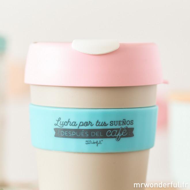 """Mug KeepCup - Lucha por tus sueños después del café"""" - M"""