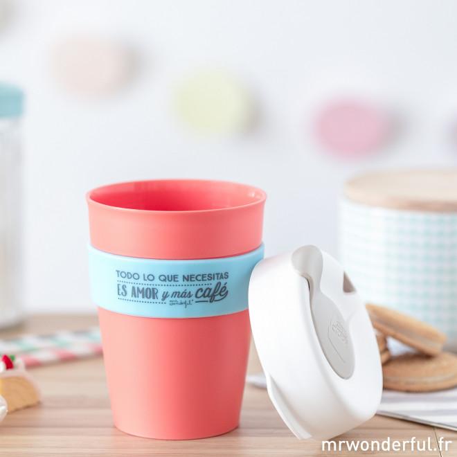 Mug KeepCup - Todo lo que necesitas es amor y más café - M
