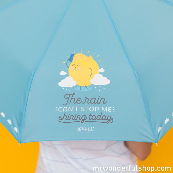 Parapluie moyen - The rain can't stop me shining today (ENG)