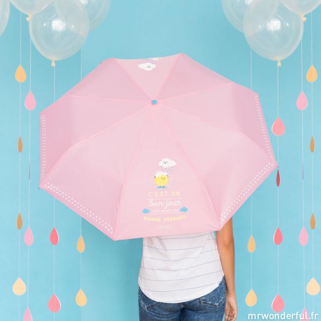 Parapluie moyen - C'est un bon jour pour passer une bonne journée (FR)
