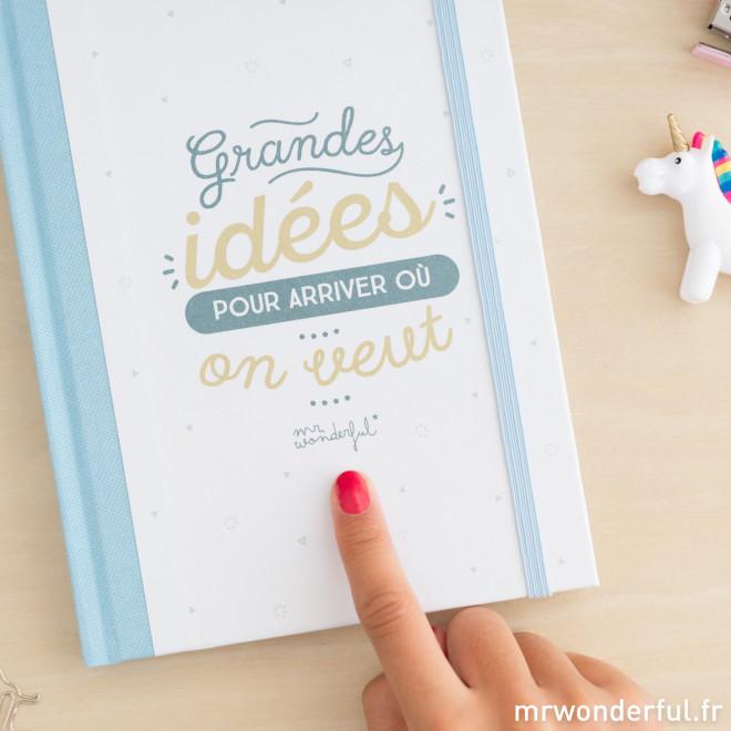 """Carnet cartonné """"Grandes idées pour arriver où on veut"""" (FR)"""