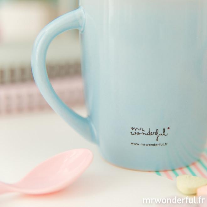 """Mug """"Je peux toujours compter sur toi"""" (FR)"""