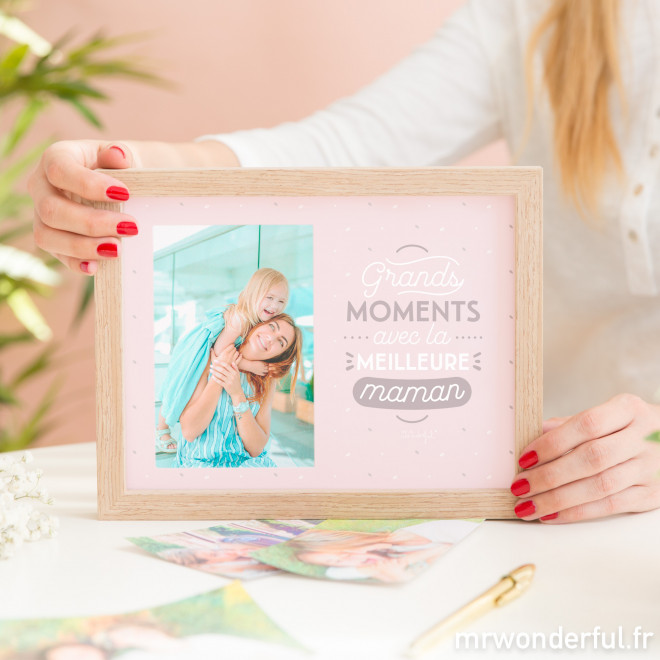 Cadre photos - Grands moments avec la meilleure maman (FR)