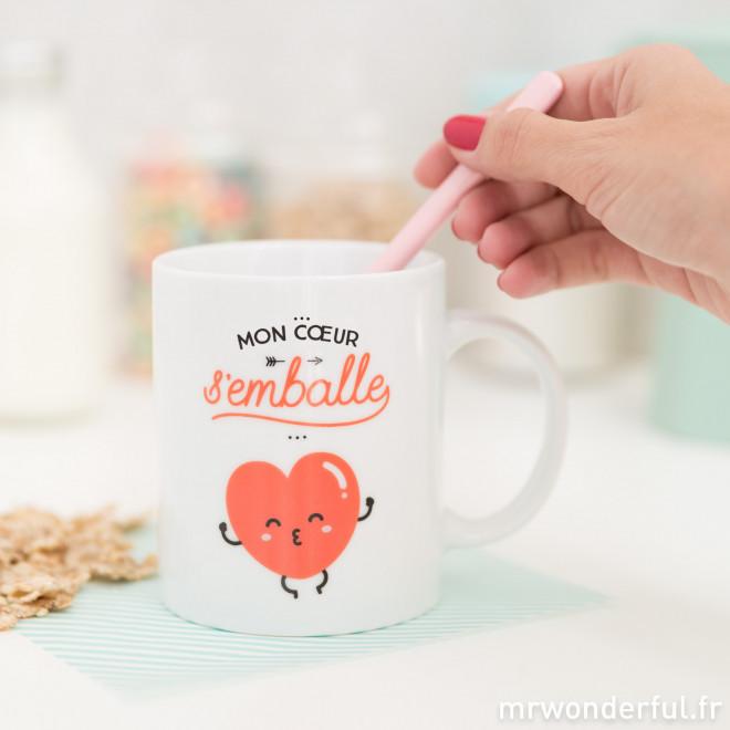 Mug - Mon coeur s'emballe (FR)