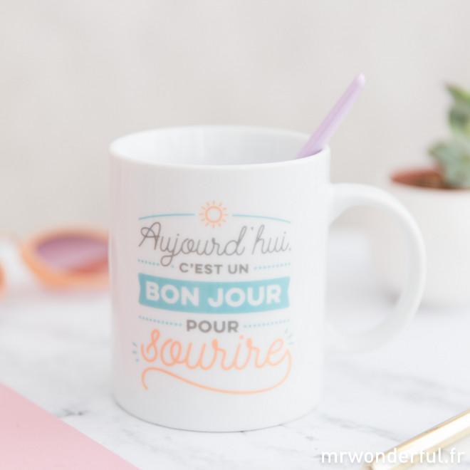 Mug - Aujourd'hui c'est un bon jour pour sourire (FR)
