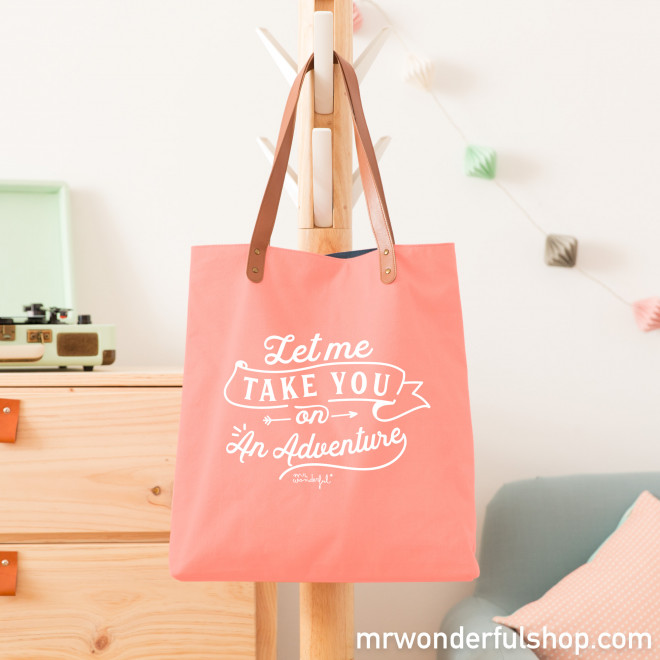 Tote bag - Let me take you on an adventure (ENG)