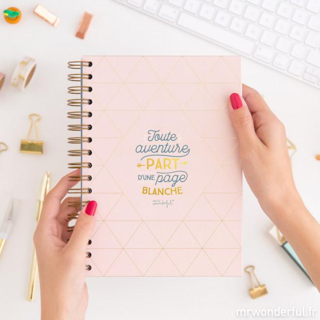 Cahier - Toute aventure part d'une page blanche