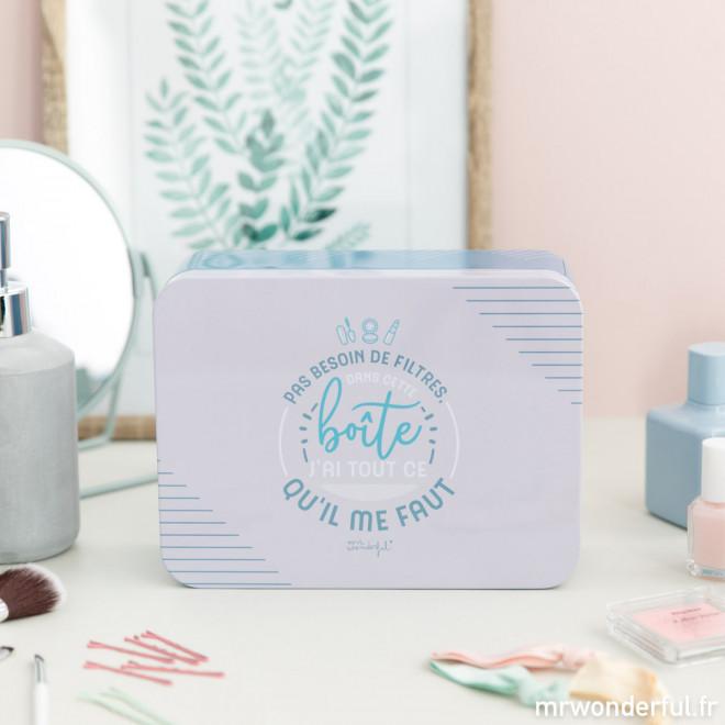 Boîte en métal - Pas besoin de filtres, dans cette boîte j'ai tout ce qu'il me faut (FR)