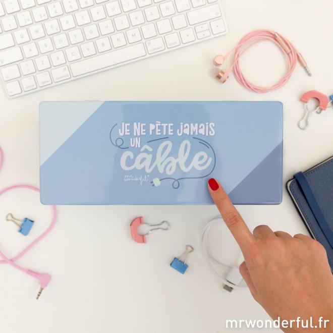 Boîte en métal - Je ne pète jamais un câble (FR)