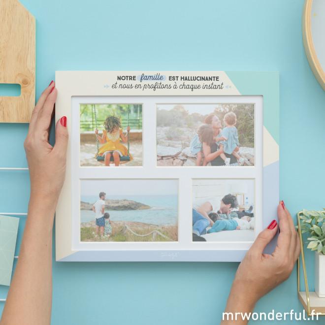 Cadre photos pêle-mêle – Notre famille est hallucinante et nous en profitons à chaque instant (FR)