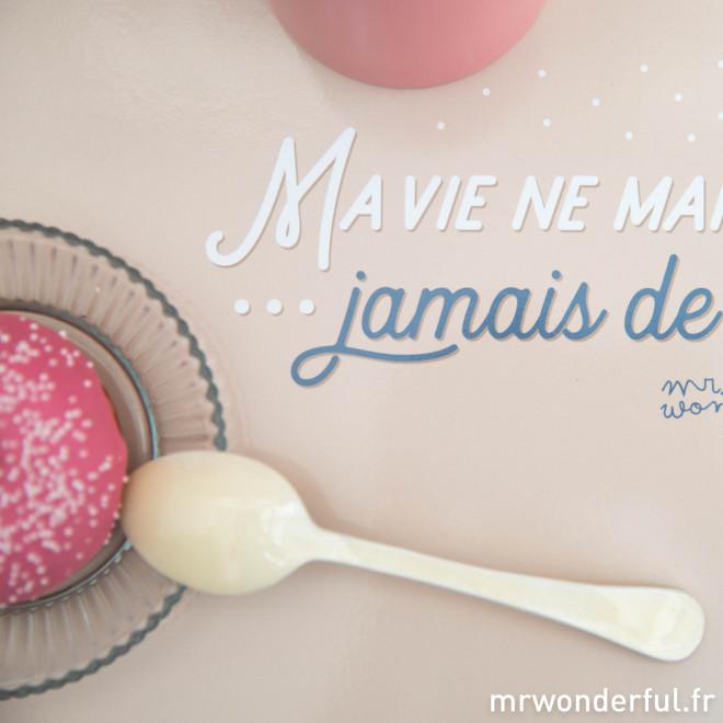 Sets de table - Ma vie ne manque jamais de sel / La mienne ne manque pas de piment (FR)