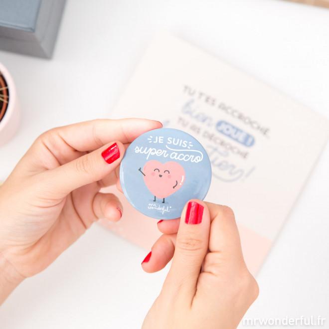 Carte et badge - Tu t'es accroché, bien joué ! (FR)