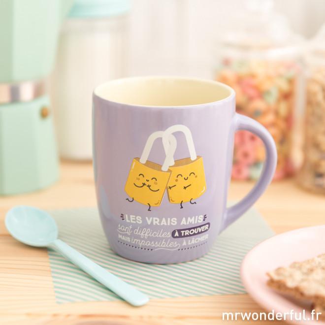 Mug - Les vrais amis sont difficiles à trouver mais impossibles à lâcher (FR)