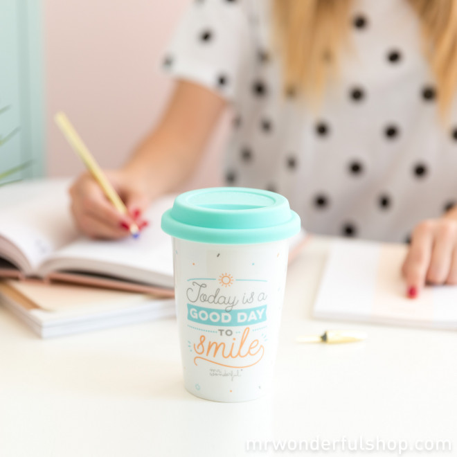 Mug à emporter - Today is a good day to smile (ENG)