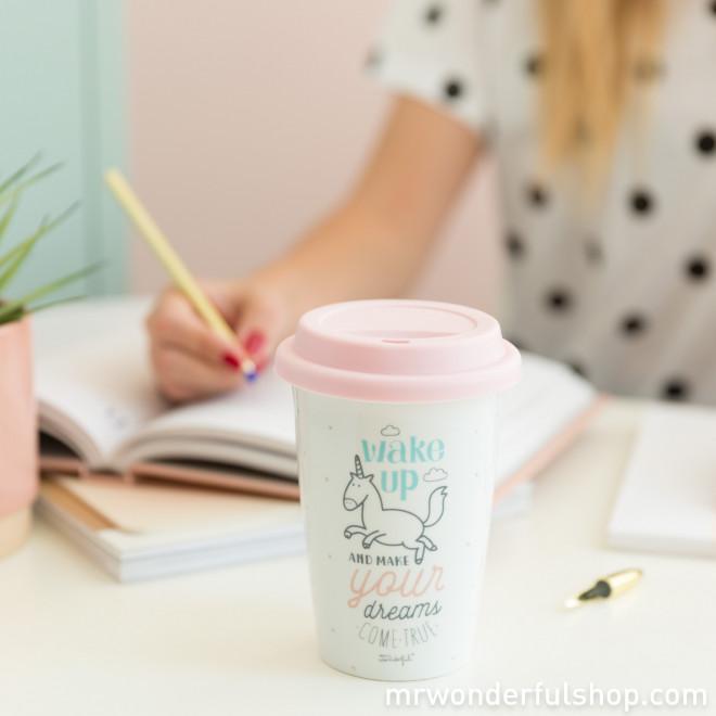 Mug à emporter - Wake up and make your dreams come true (ENG)