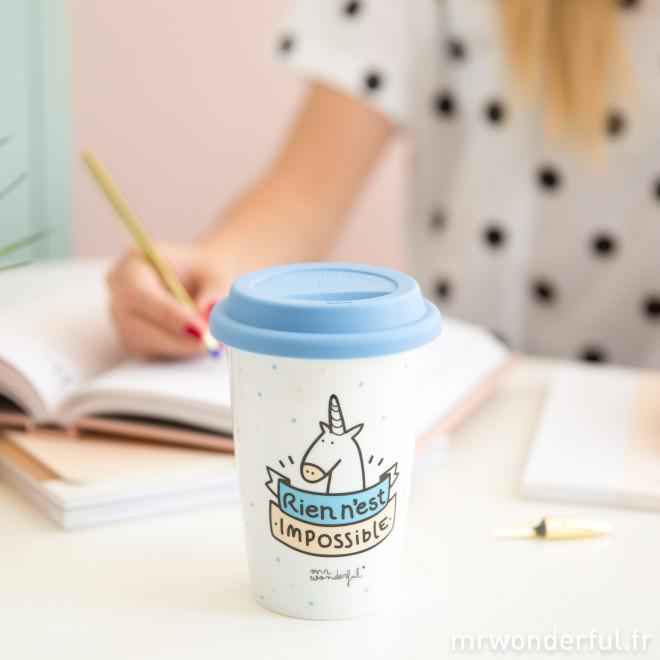 Mug à emporter - Rien n'est impossible (FR)