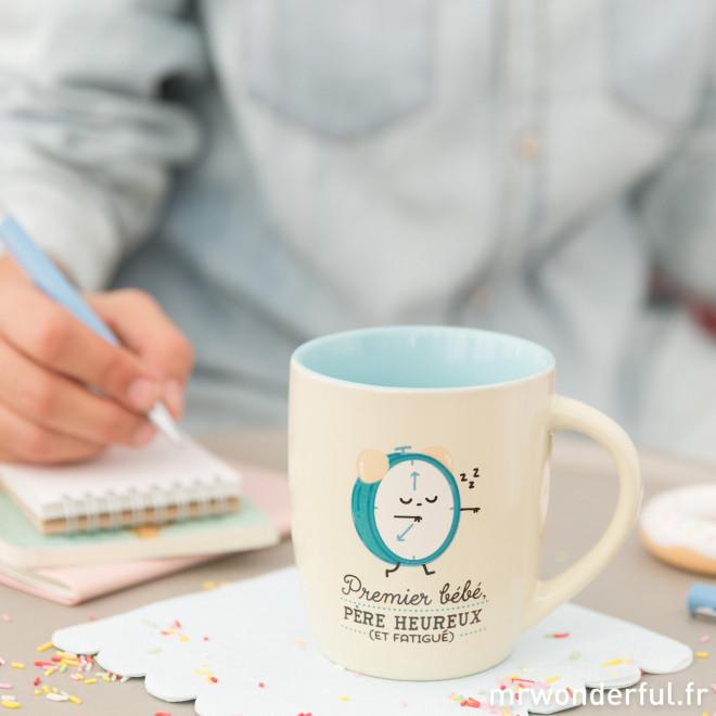 Mug - Premier bébé, père heureux (et fatigué) (FR)