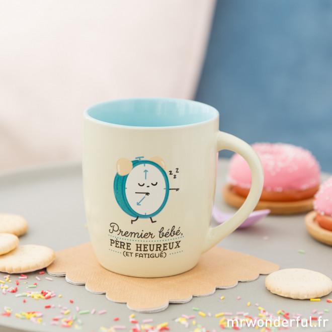 Mug - Premier bébé, père heureux (et fatigué)