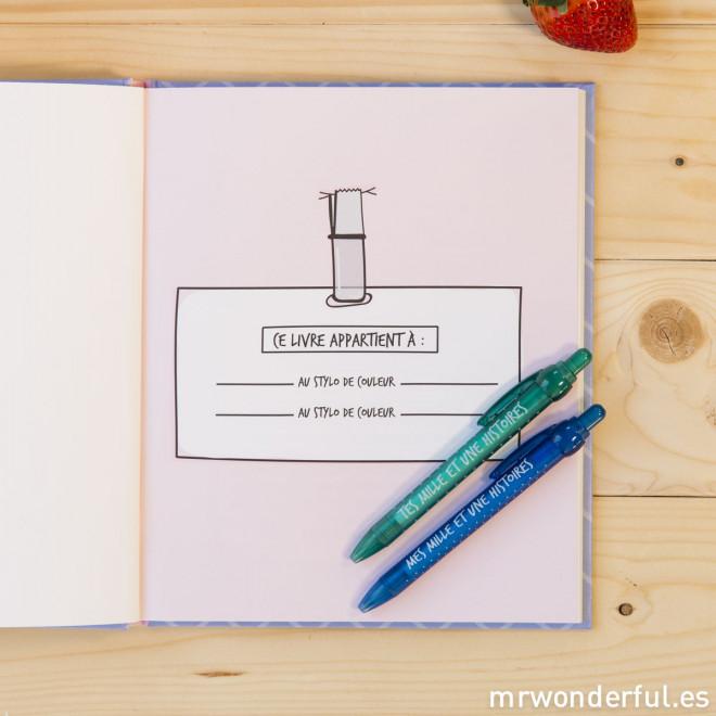 kit livre stylo des choses rien qu 39 nous et autres broutilles mr wonderful. Black Bedroom Furniture Sets. Home Design Ideas