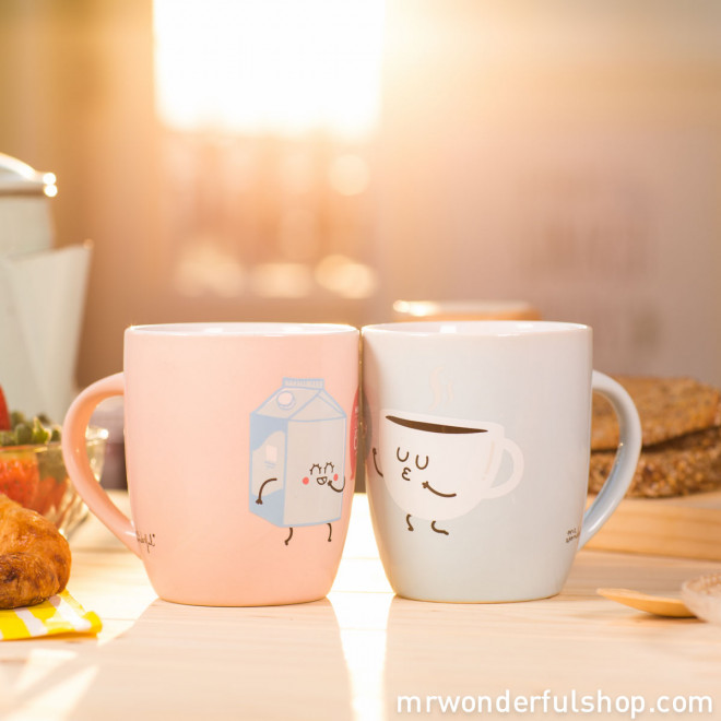 Set de 2 tazas - How do you like your coffee? With you