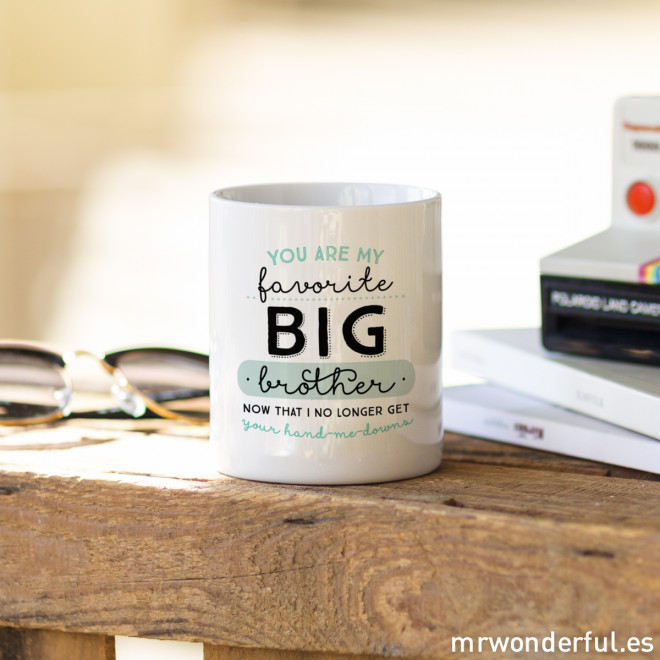 "Mug ""You are my favorite big brother"" (ENG)"