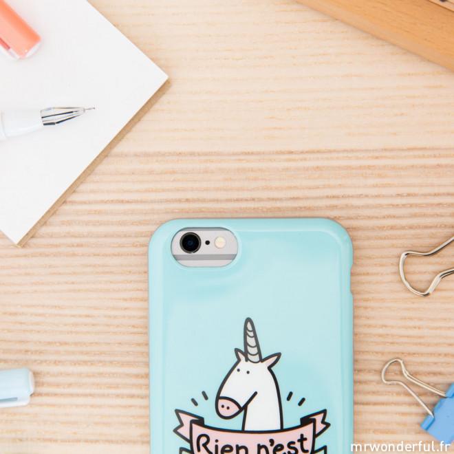 Coque pour iPhone 6/6S - Rien n'est impossible