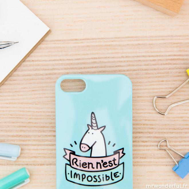 Coque pour iPhone 5/5S - Rien n'est impossible