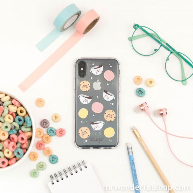 Coque transparente pour iPhone X - Petit-déjeuner (FR)