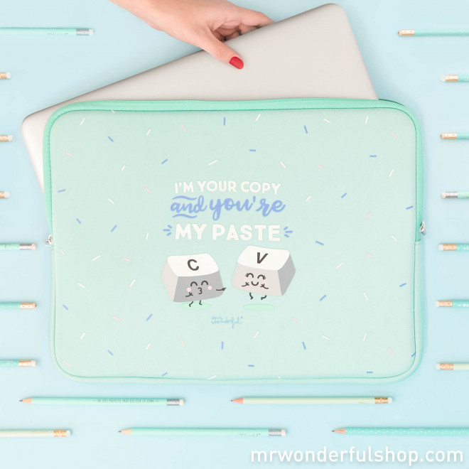 Housse d'ordinateur portable de 15,6'' - I'm your copy and you're my paste (ENG)
