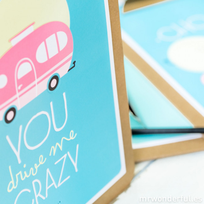 Affiche summer en relief + Clipboard - You drive me crazy