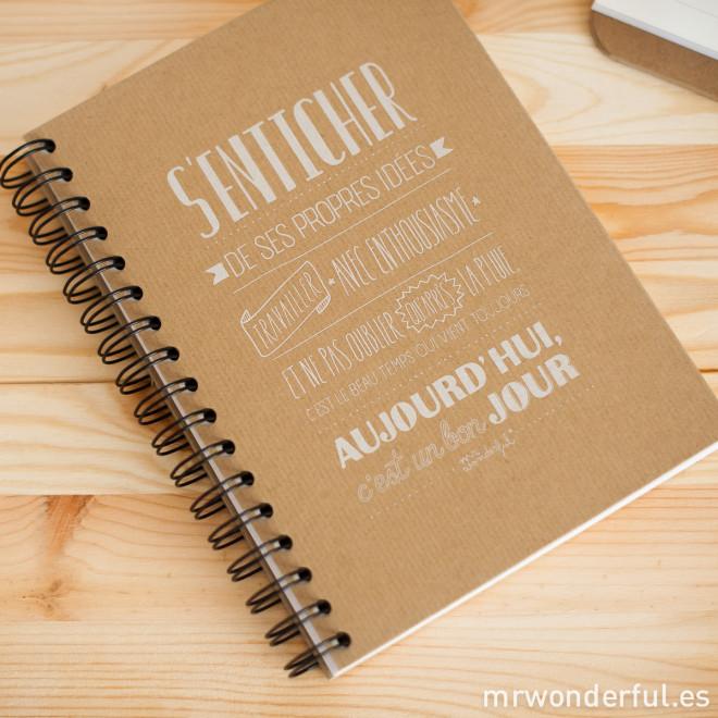 Cahier kraft - S'enticher de ses propres idées. Travailler avec enthousiasme. (FR)