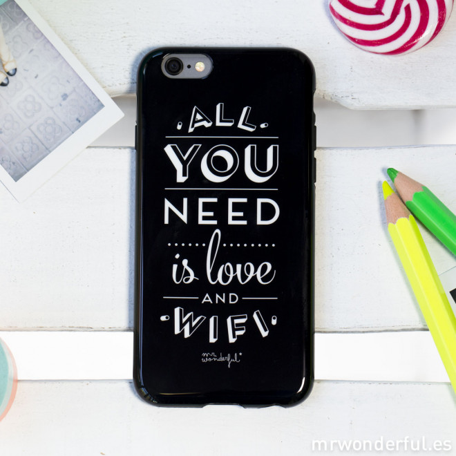 Coque pour iPhone 6 Plus - All you need is love and Wifi