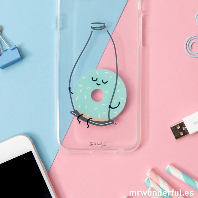 Coque transparente iPhone 6 - Donut