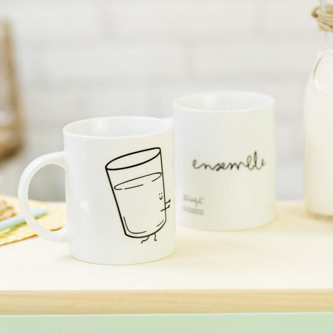 Lot de 2 mugs - Ensemble c'est mieux (FR)