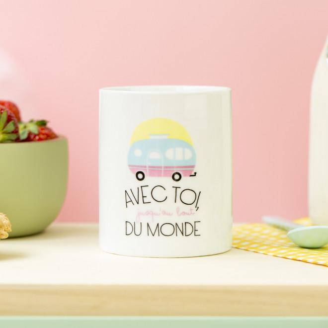 Mug - Avec toi, jusqu'au bout du monde (FR)