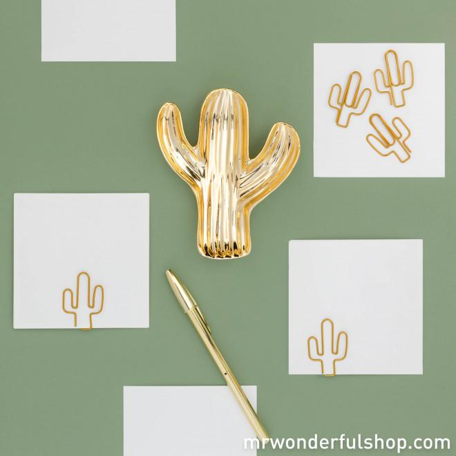 Bandeja cactus dorado