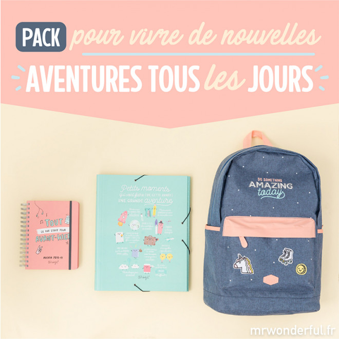 Pack pour vivre de nouvellles aventures tous les jours