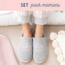 Set pour mamans en mode détente qui méritent tout ce qu'il y a de mieux avec des chaussons taille 39 - 41