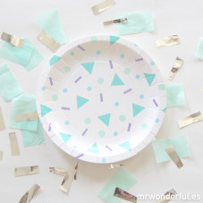 Assiettes carton grand format - Confettis