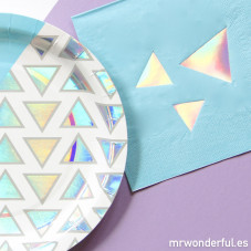 Serviettes papier - Triangles disco