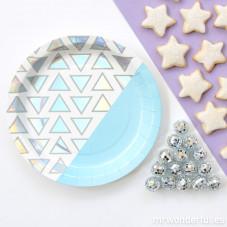 Assiettes carton - triangle