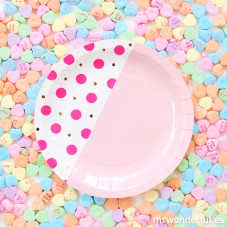 Petites assiettes carton - Rose