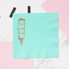 Serviettes papier couleur mint  - Ice cream
