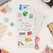 Porte-documents - Voy a vivir un millón de aventuras