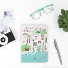 Libreta con ilustraciones de Barcelona