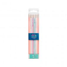 Kit de 6 crayons avec plein de bonnes énergies