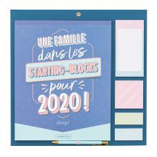 Calendrier familial - Une famille dans les starting-blocks pour 2020 !